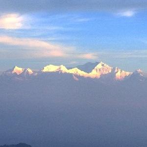 Adam's view from Tiger Hill, Darjeeling.